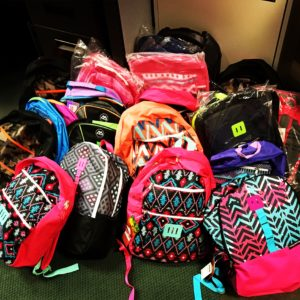 047d7ff5159e Our amazing supporters who make up Hope Nation donated 150 new school  backpacks to benefit our families. Bags of all sizes